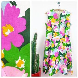 VTG 60s Elfriede Psychedelic Floral A-line Dress